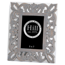 Grey Painted Elaborate 5x7 Photo Frame