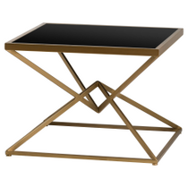Antique Bronze Contemporary Display Sidetable