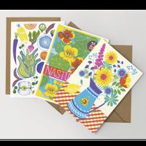 Summer Garden Greetings Cards