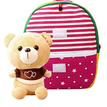 Children's Backpack with detachable plush toys