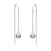 925 Sterling Silver Pull Through Earrings