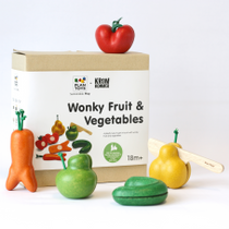 PlanToys Wonky Fruit and Veg Set