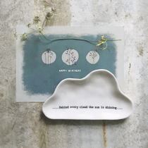 Porcelain cloud dish