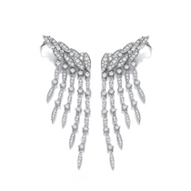 Silver and CZ Vintage Style Waterfall Earrings