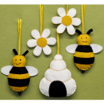 Bees, Flowers and Hive Felt Craft Kit