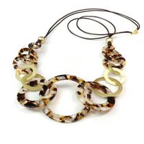 Resin Multi Hoop Necklace
