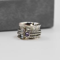 925 silver semi precious spinning rings