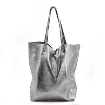 Italian leather tote handbag