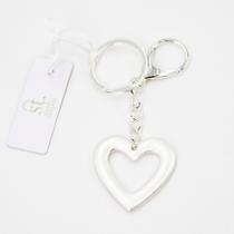 Open heart key ring