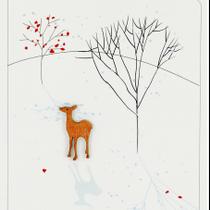 Ink Wood: Deer & Trees