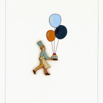 Ink Wood: Chef & cake with balloons