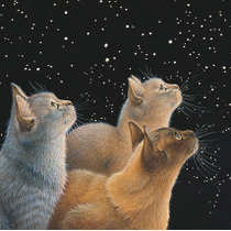 """Three Feline Dignitaries"" by Lesley Anne Ivory"