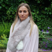 NEW FAUX FUR PULL THROUGH SCARF