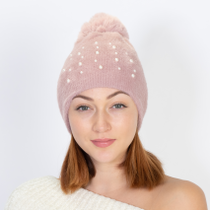 NEW PEARL AND FAUX FUR DESIGN HAT