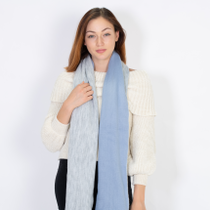 NEW TWO TONE BLUE PASHMINA STYLE SCARF