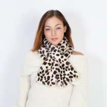 NEW ANIMAL PRINT FAUX FUR PULL THROUGH SCARF