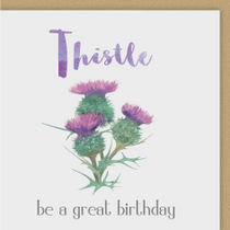 Thistle Pun Birthday Card
