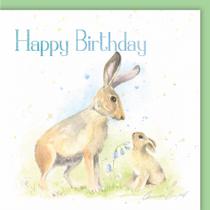 Hare Birthday Card