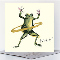 NEW - Work It! Greetings Card