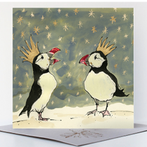 NEW - Christmas Puffins Card