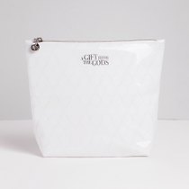A Gift From The Gods Geo White Cosmetic Bag
