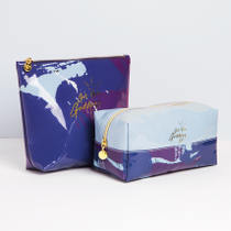 Get Your Goddess On Graffiti Blue Cosmetic Bags