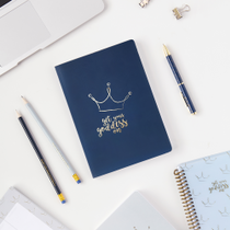 Get Your Goddess On Crown Blue A5 Notebook