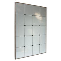 Rectangular Bevelled Panelled Mirror Champagne Finish MQM3127