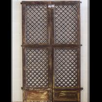 Wooden jail door