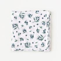 Organic cotton muslin swaddle blanket - Blueberry