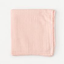 Organic cotton muslin swaddle blanket - Rosa blush
