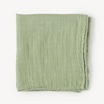Organic cotton muslin swaddle blanket - Sage