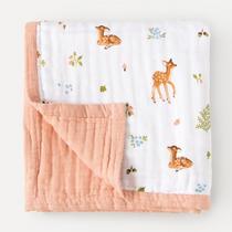Organic cotton muslin quilt 4 layer - Fawn