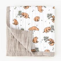 Organic cotton muslin quilt 4 layer - Bear cub