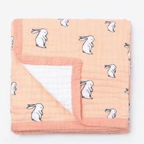 Organic cotton muslin quilt 4 layer - Long ear bunny