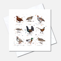 Game Birds Greetings Card