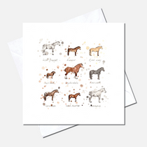 Horse Breeds Greetings Card
