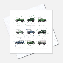 Land Rovers Greetings Cards