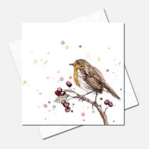 Robin Study Greetings Card