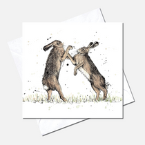 Gloves Off Greetings Card