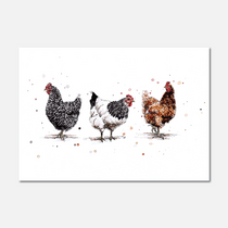 Chickens Limited Edition Print