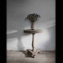Tall Round Wine Table with Bun Feet
