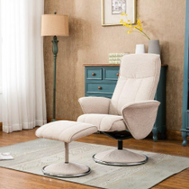 Verona Swivel Recliner & Foostool