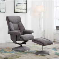 Biarritz Swivel Recliner & Footstool