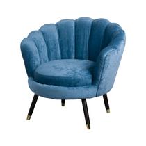 Teal Ribbed Teacup Chair
