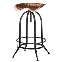 Copper Effect Tractor Seat Bar Stool