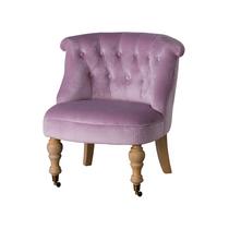 Pink Velvet Victorian Ladies Chair