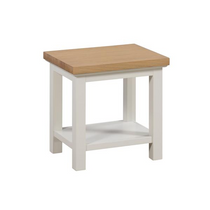 The Ripley Oak Collection Lamp Table With Shelf