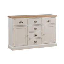 The Ripley Oak Collection Two Door Six Drawer Sideboard