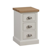 The Ripley Oak Collection Three Drawer Bedside